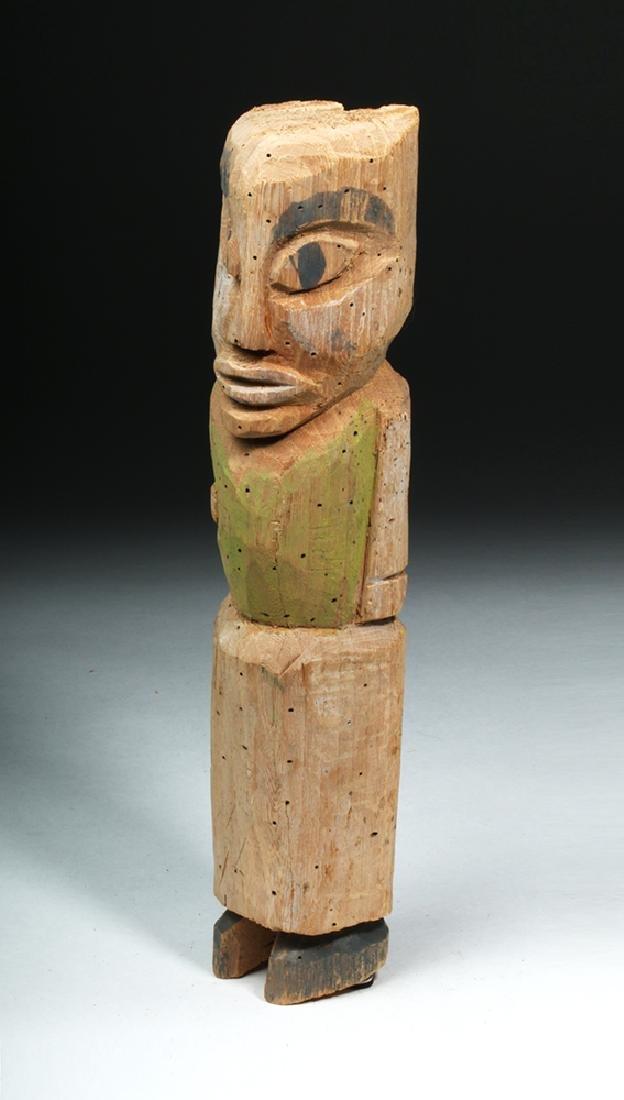 Northwest Coast Nootka / Makah Wood Standing Figure - 2