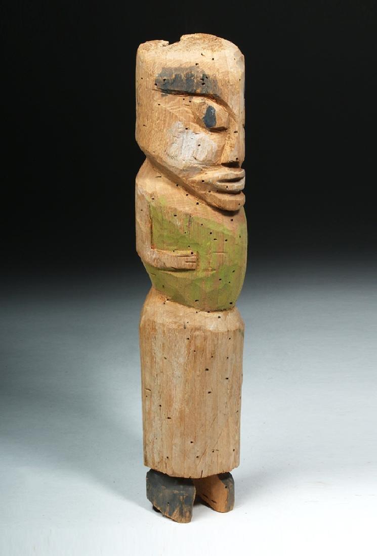 Northwest Coast Nootka / Makah Wood Standing Figure - 5