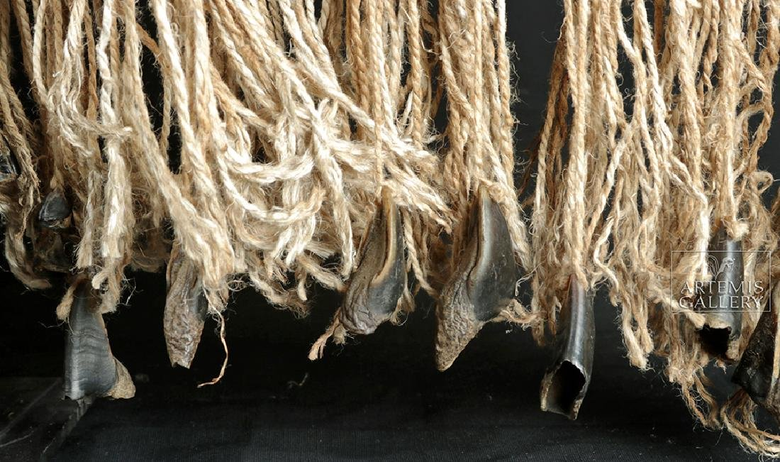 Early 20th C. Tlingit Rope Skirt w/ Puffin Beaks - 2