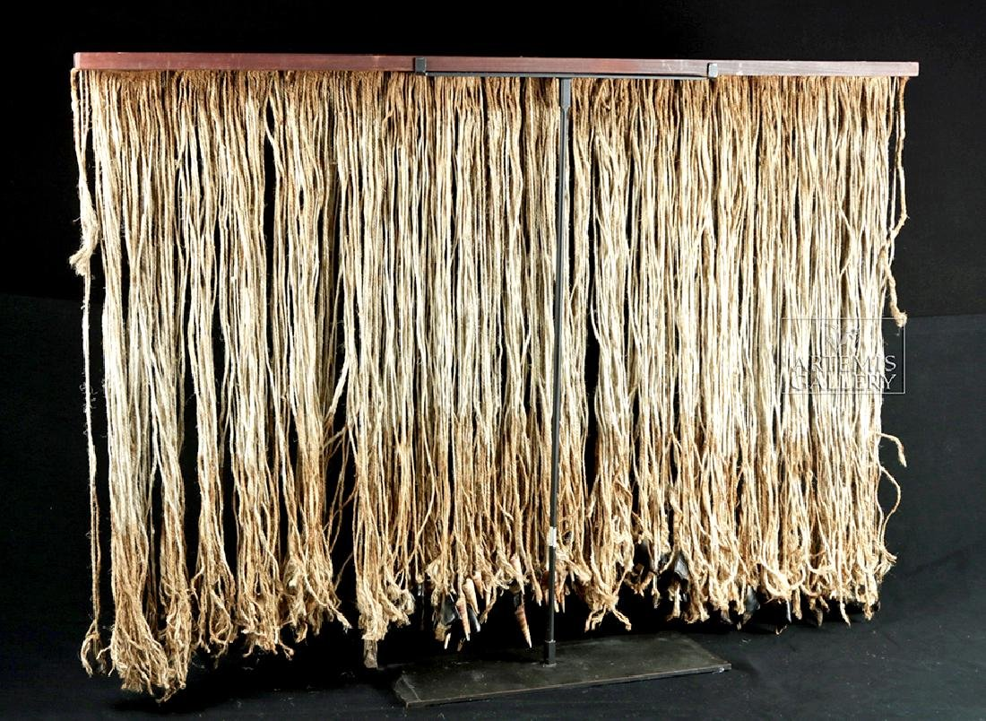 Early 20th C. Tlingit Rope Skirt w/ Puffin Beaks - 4