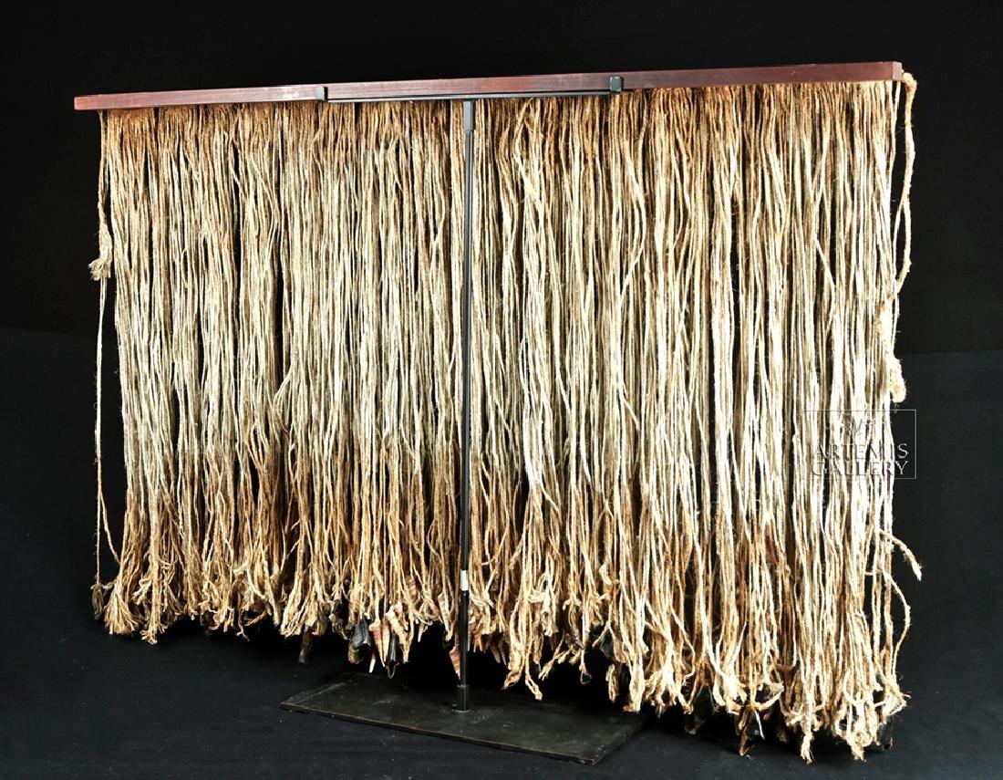 Early 20th C. Tlingit Rope Skirt w/ Puffin Beaks - 5