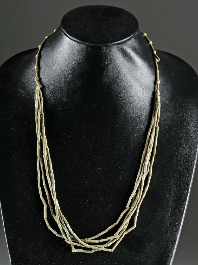 Egyptian Faience Beaded Necklace w/ 5 Strands