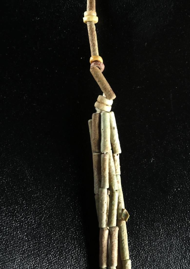 Egyptian Faience Beaded Necklace w/ 5 Strands - 4