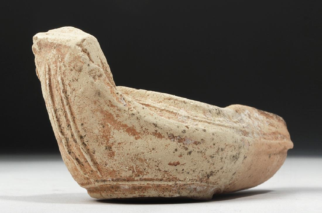 Byzantine Pottery Oil Lamp - Crucifix Motif - 6
