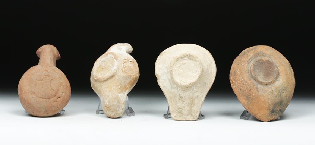 Lot of 4 Byzantine Terracotta Oil Lamps - 4