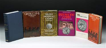 Lot of Six Reference Books on Ancient Coins