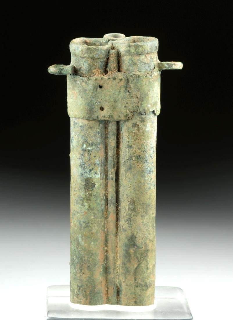 Rare Romano-Egyptian Bronze Tubular Kohl Vessel