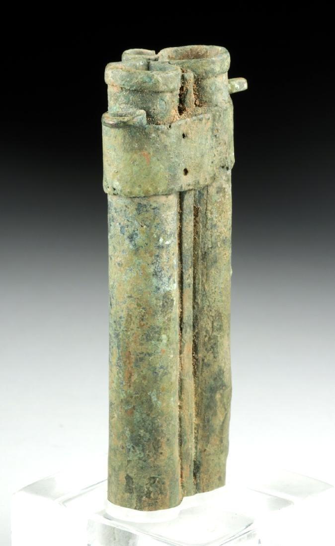 Rare Romano-Egyptian Bronze Tubular Kohl Vessel - 2