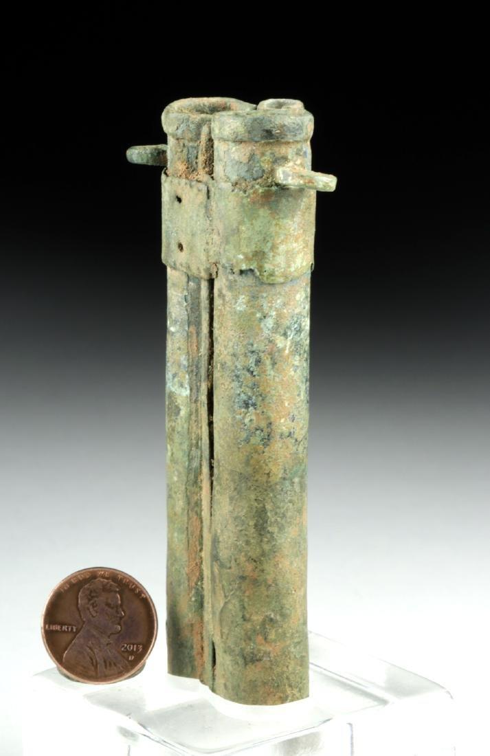 Rare Romano-Egyptian Bronze Tubular Kohl Vessel - 3