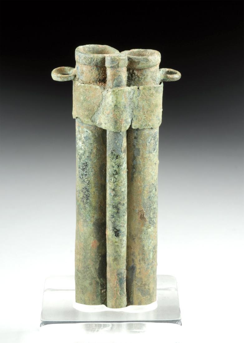 Rare Romano-Egyptian Bronze Tubular Kohl Vessel - 4