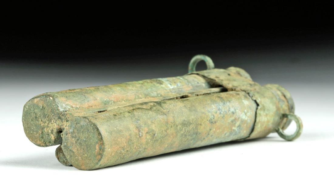 Rare Romano-Egyptian Bronze Tubular Kohl Vessel - 5