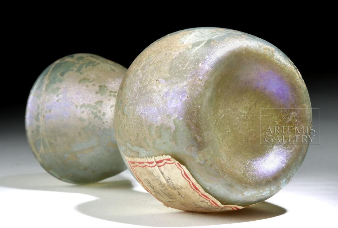 Roman Glass Bottle w/ Old Label + ex-Bonhams - 6