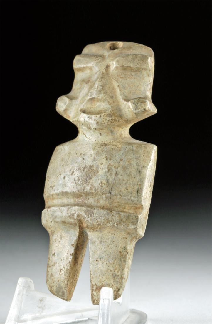 Small Guerrero Mezcala Greenstone Figure - 3