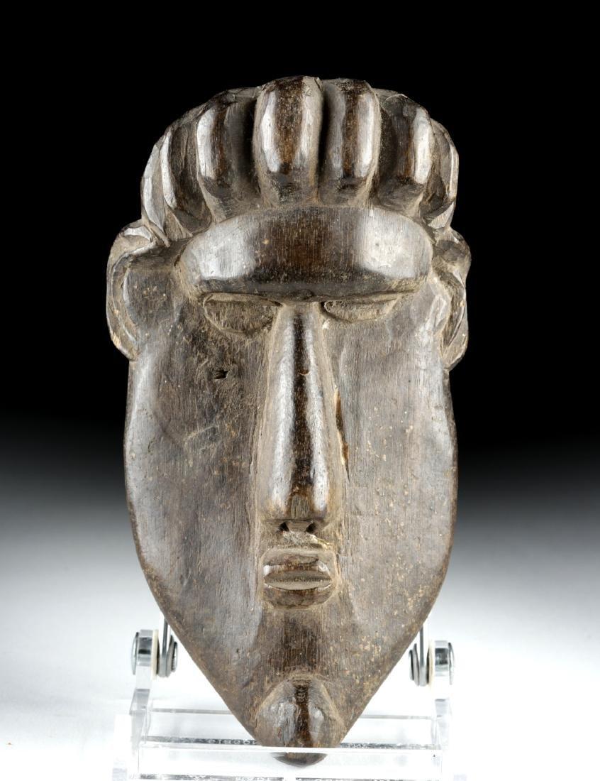 20th C. African Bassa Wood Gela Maskette