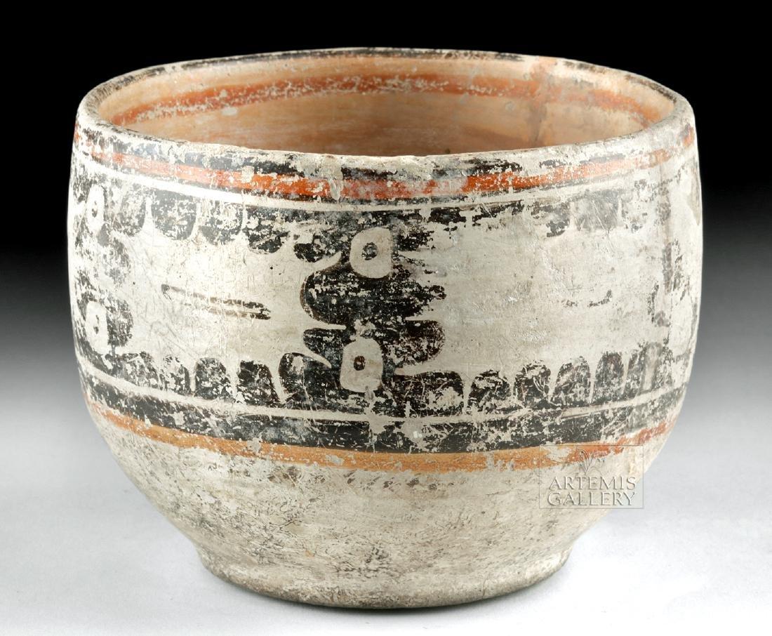 Maya Peten Pottery Codex Bowl