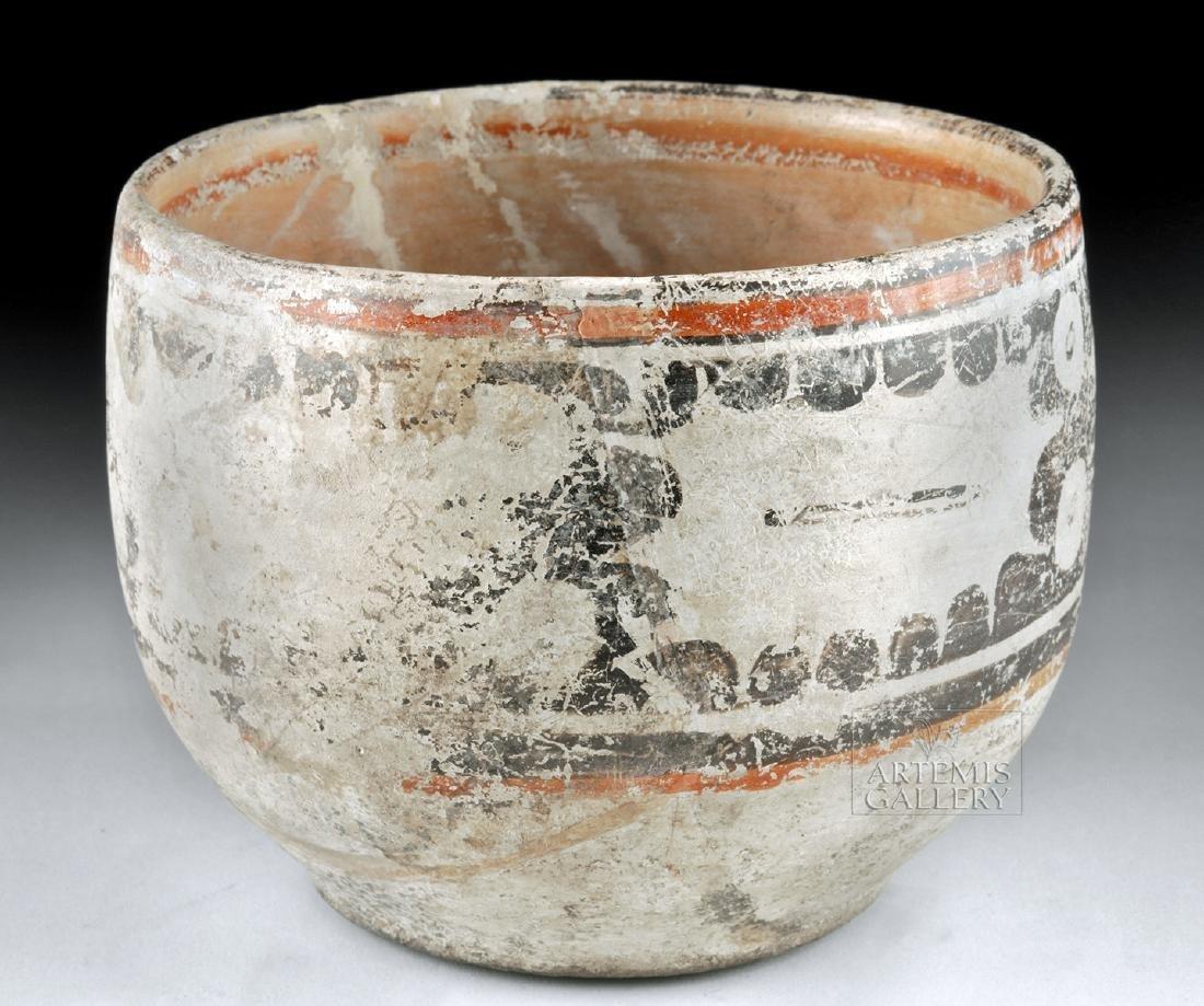 Maya Peten Pottery Codex Bowl - 3