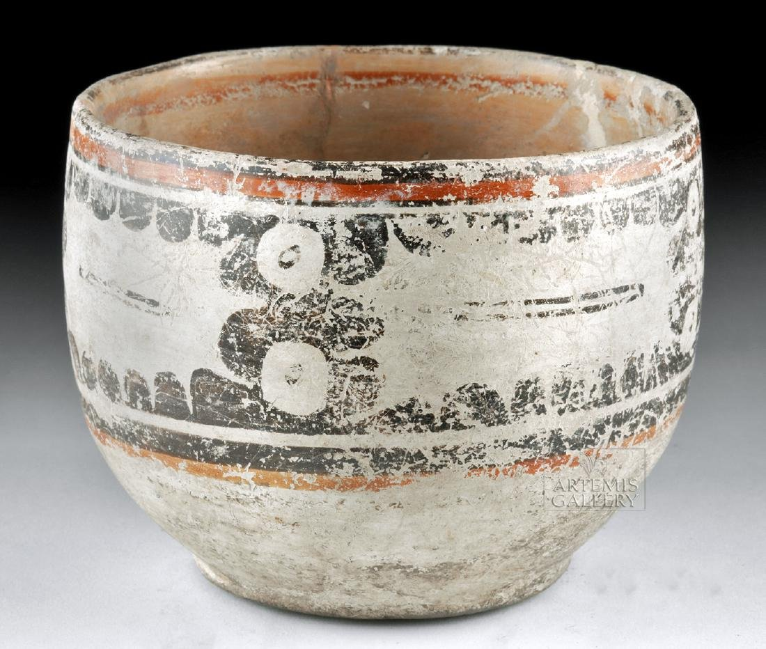 Maya Peten Pottery Codex Bowl - 4