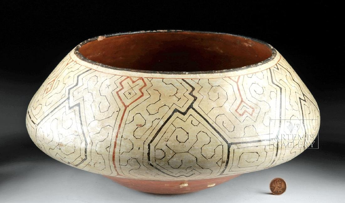 Large 20th C. Shipibo Pottery Jar