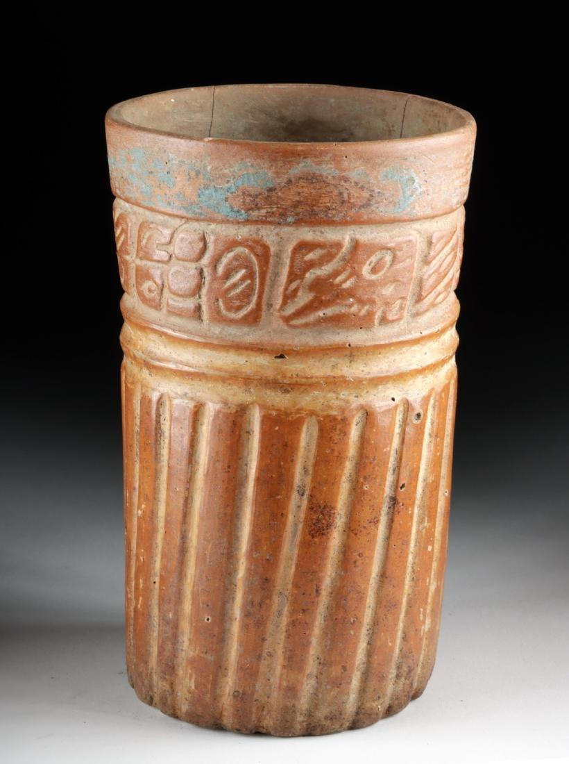 Maya Ceramic Cylinder Vessel - Glyphoids