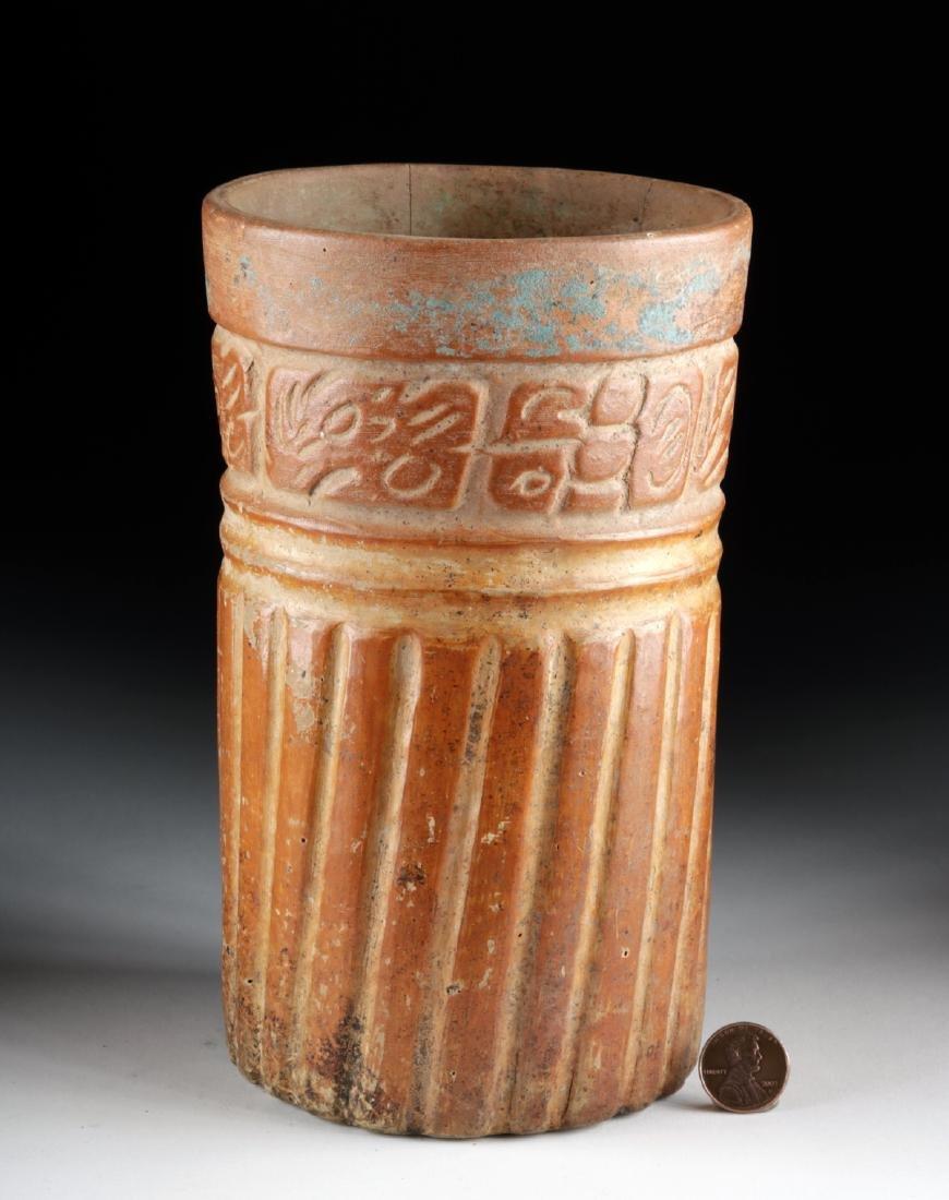 Maya Ceramic Cylinder Vessel - Glyphoids - 2