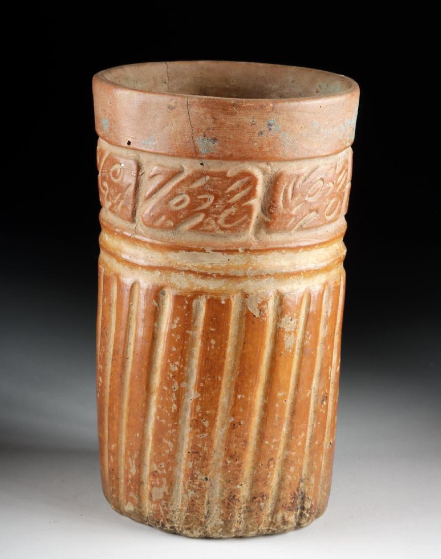 Maya Ceramic Cylinder Vessel - Glyphoids - 3