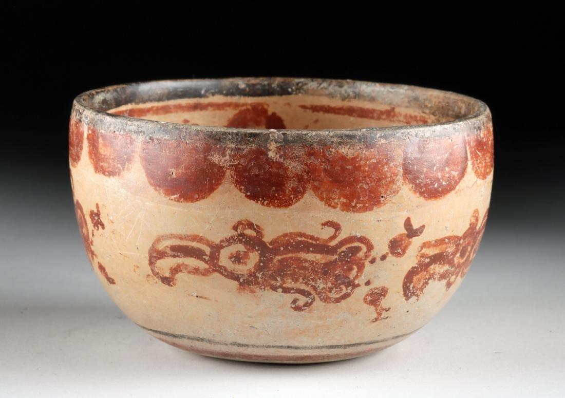 Maya Peten Polychrome Bowl w/ Squids