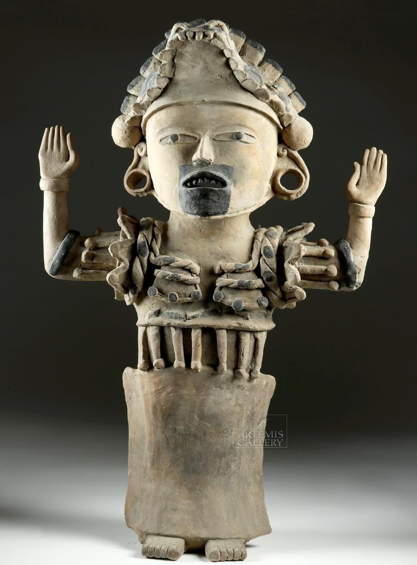 Enormous Veracruz Pottery Standing Figure w/ TL