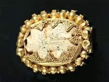 Egyptian Steatite Scarab  Etruscan 16K Gold Bezel
