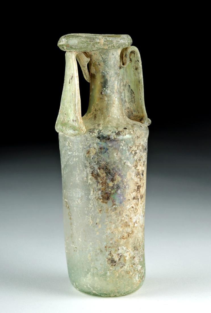 Roman Glass Double-Handled Bottle
