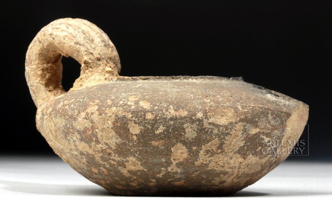 Roman Holy Land Pottery Oil Lamp