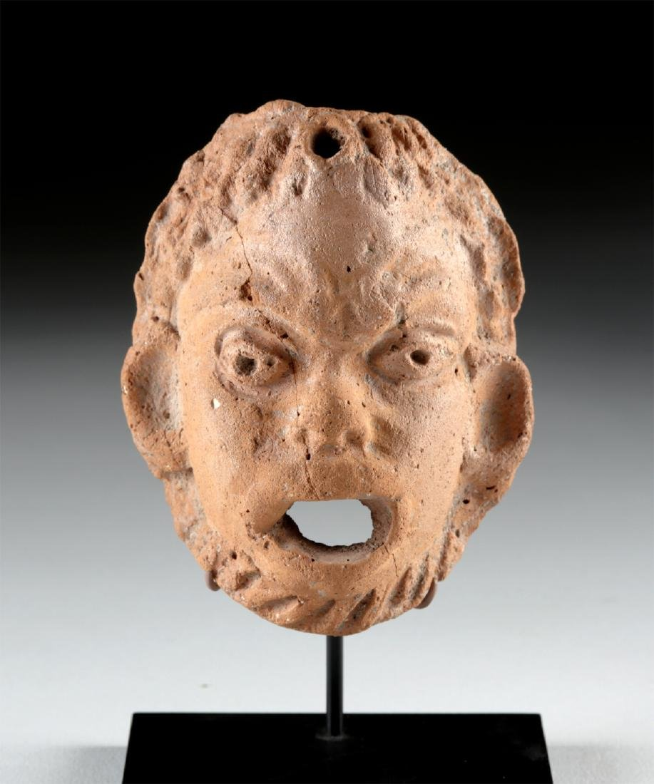 Roman Redware Mask of an African Male