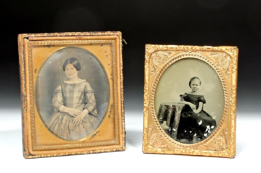 Pair of 19th C. Antique North American Photos