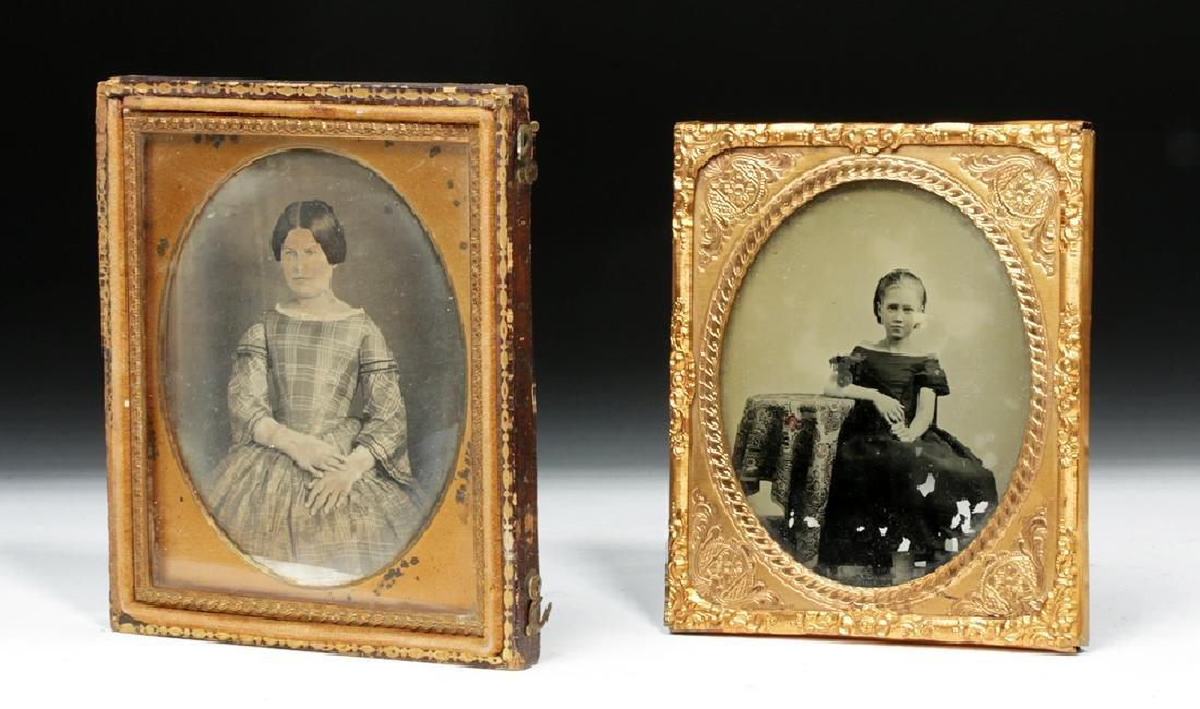 Pair of 19th C. Antique North American Photos - 2