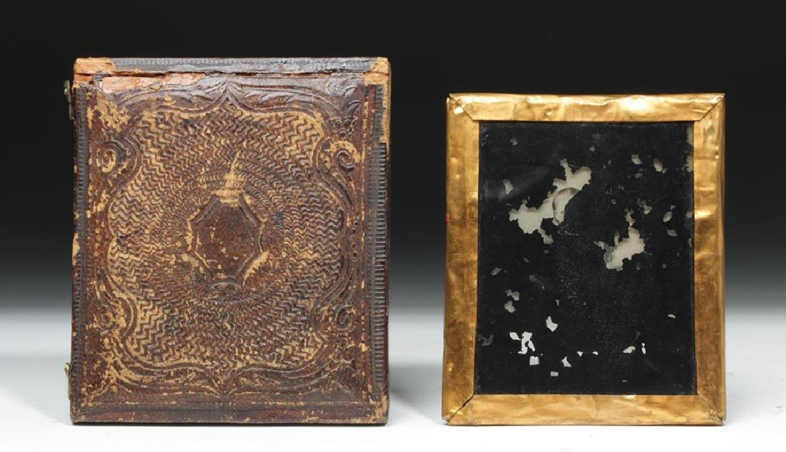 Pair of 19th C. Antique North American Photos - 3