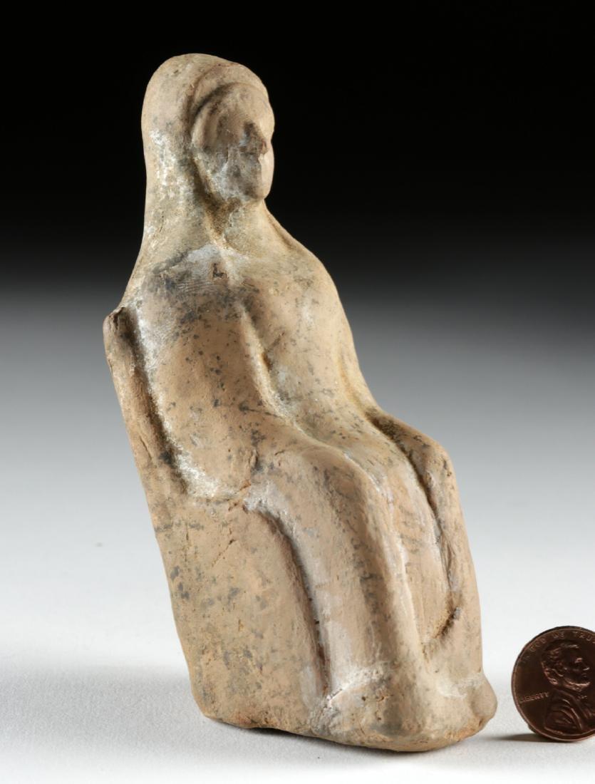 Greek Terracotta Seated Goddess