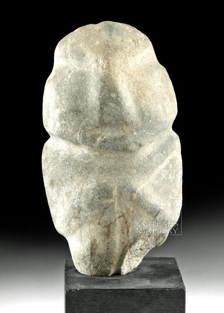 Large Guerrero Mezcala Stone Axe God Figure