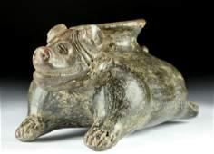 Jalisco Brownware Vessel of a Recumbent Dog