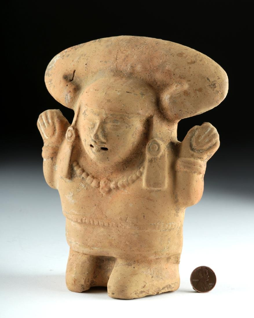 Vera Cruz Nopiloa Pottery Female Effigy Rattle