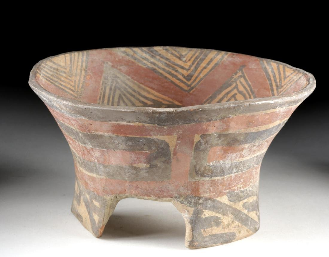 Tiahuanaco Polychrome Tripod Bowl