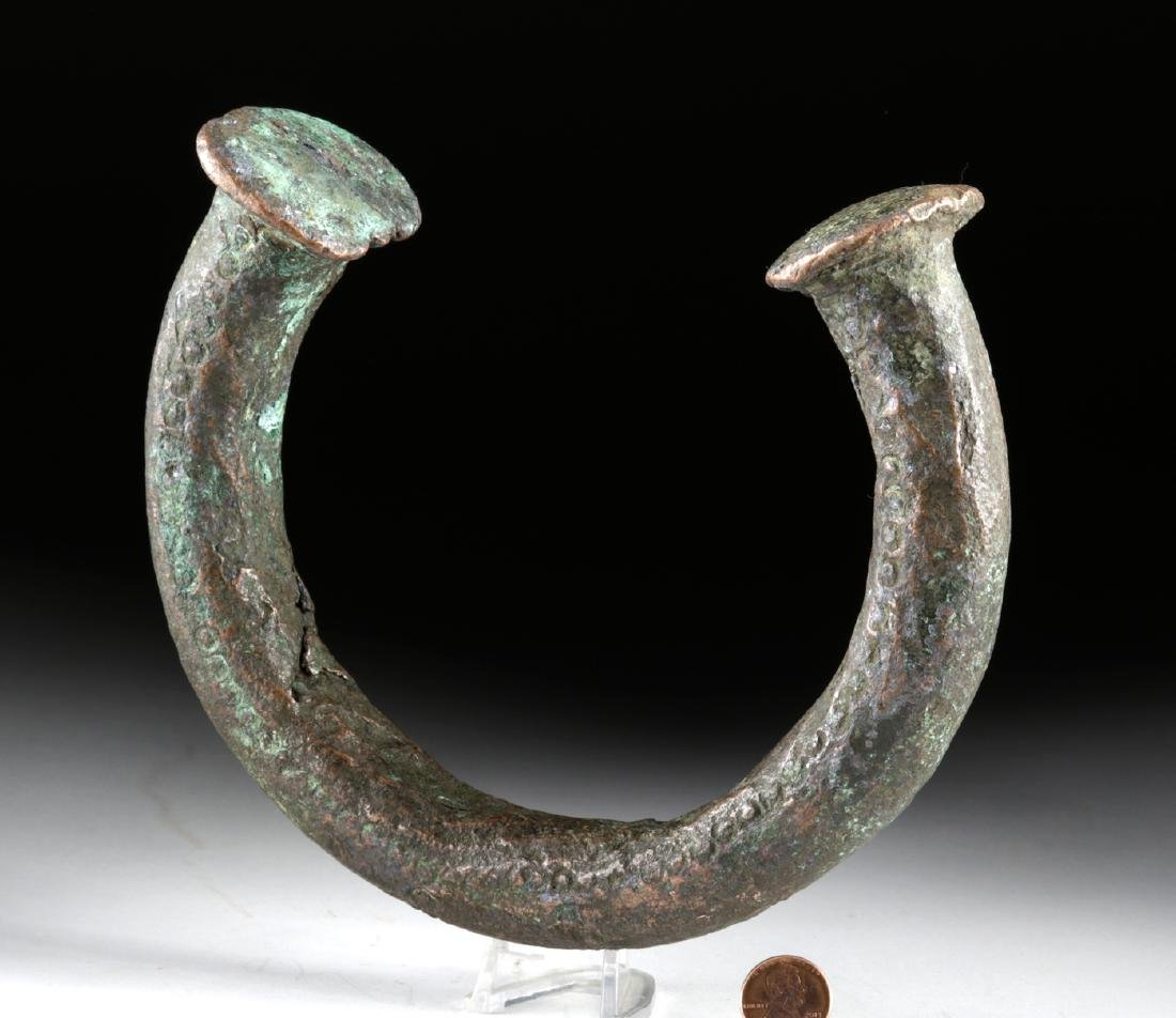 Large 17th C. West African Copper Manilla