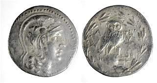 Large Greek Late Athena Silver Tetradrachm  163 grams