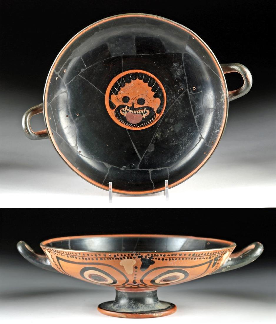 Greek Attic Kylix / Eye Cup with Gorgon - TL Tested