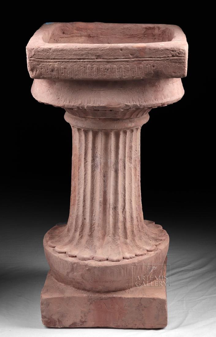 Huge Greek 2-Part Pedestal to Hold Louterion, TL'd