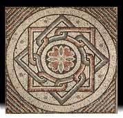 Roman Mosaic with Geometric Design