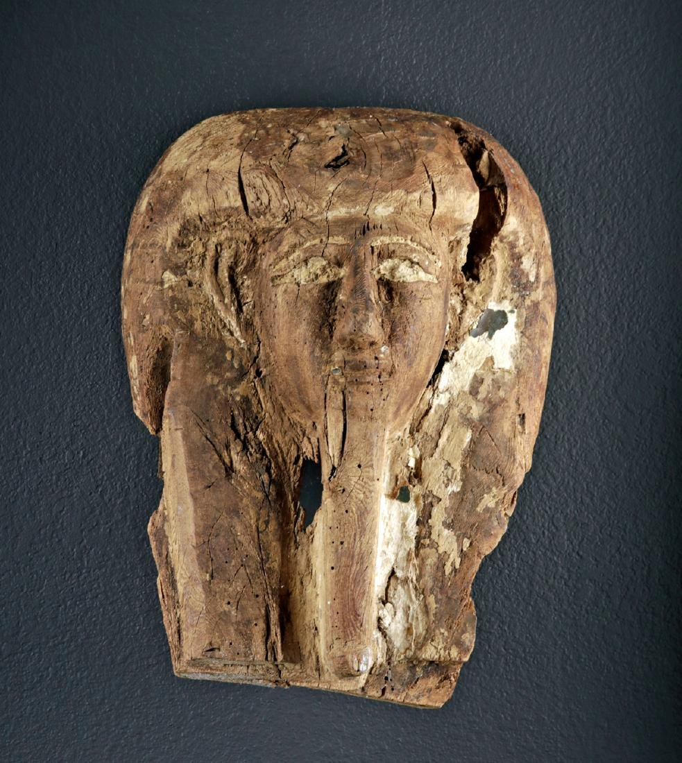 Egyptian Wood Coffin Upper Lid, ex-de Young Museum