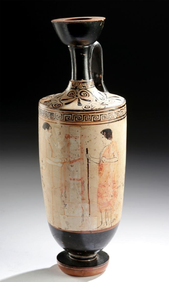 Exceptional Greek Attic White Ground Lekythos w/ TL