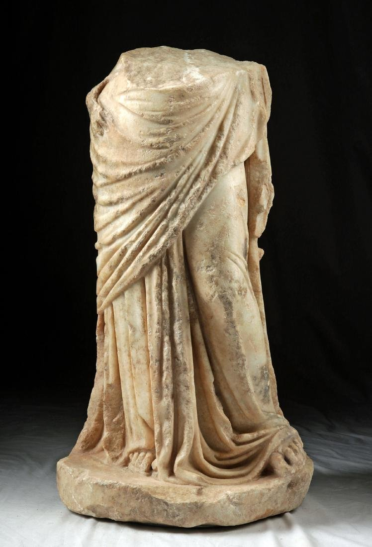 Published Greek Marble - Draped Lower Body of Goddess