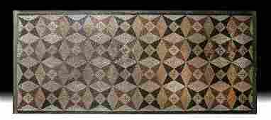 Roman Stone Mosaic - Intricate Geometric Star Pattern