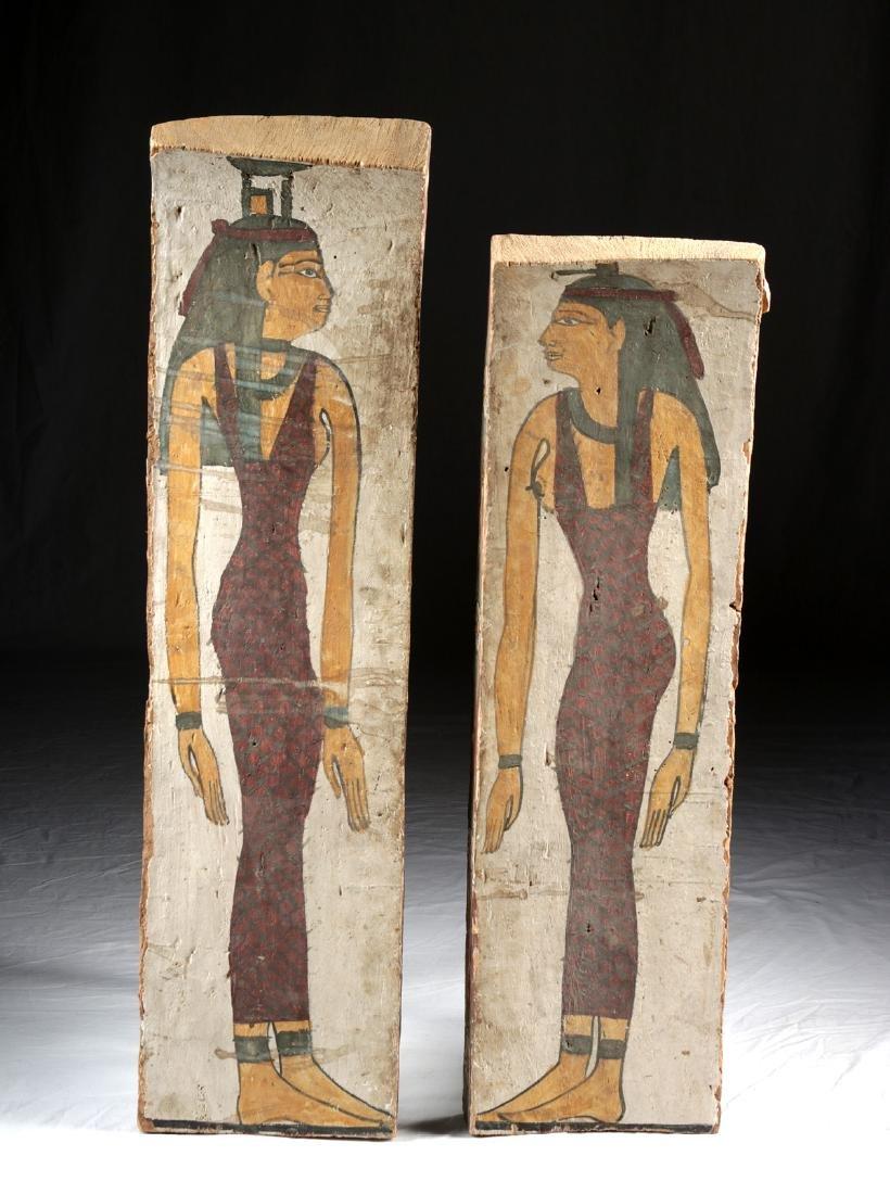Published & Translated Egyptian Wood Sarcophagus Panels