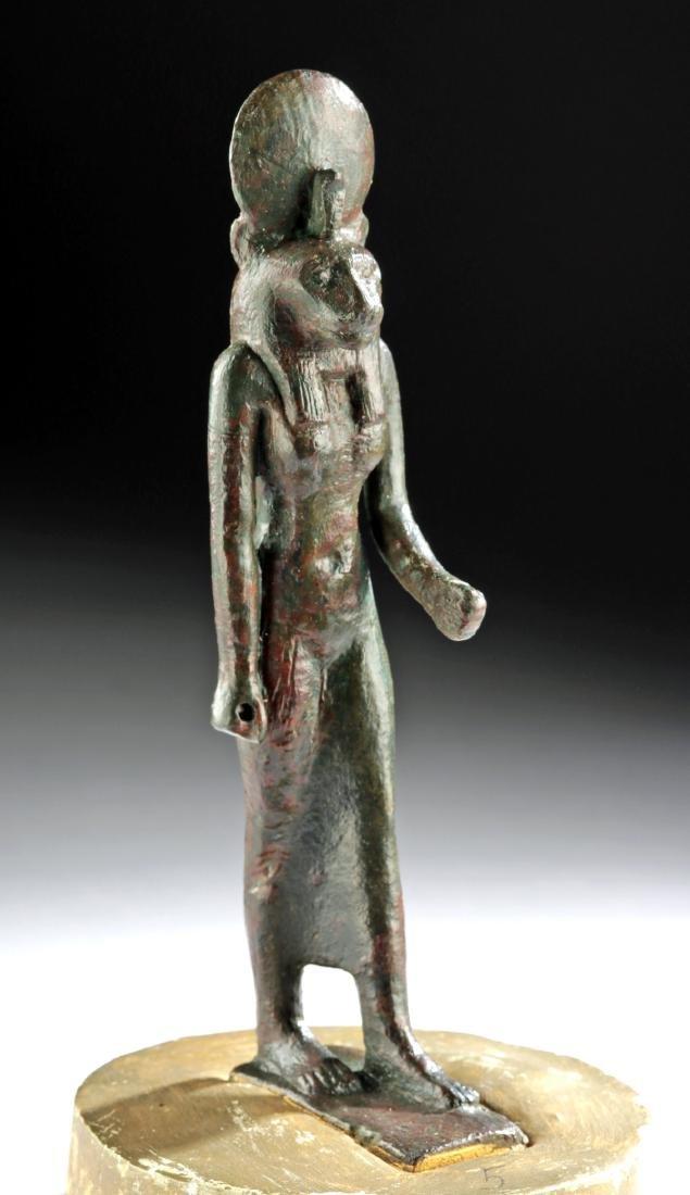 Large/Fine Egyptian Bronze Striding Goddess - Sekhmet